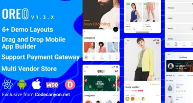 Download Oreo Fashion v1.3.0 - Full React Native App for Woocommerce Free / Nulled