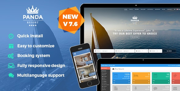 Download Panda Resort v7.6.1 - CMS for Single Hotel - Booking System Free / Nulled