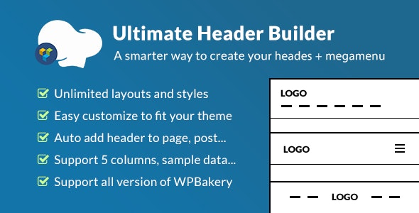Download Ultimate Header Builder v1.5.4 - Addon WPBakery Page Builder Free / Nulled