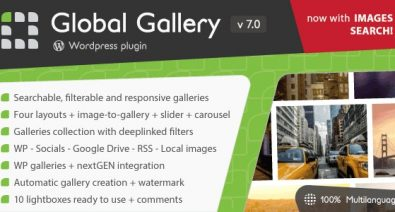 Download Global Gallery v7.03 - Wordpress Responsive Gallery Free / Nulled