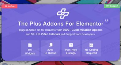 Download The Plus v3.1.0 - Addon for Elementor Free / Nulled