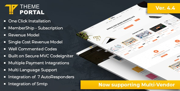 Download Theme Portal Marketplace v4.4 - Sell Digital Products ,Themes, Plugins ,Scripts - Multi Vendor Free / Nulled