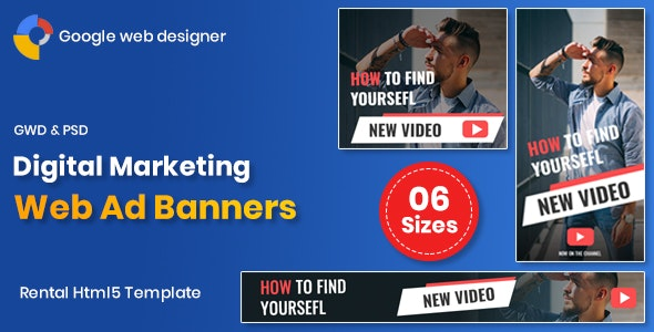Download Digital Marketting v1.0 - Web Banners GWD Free / Nulled