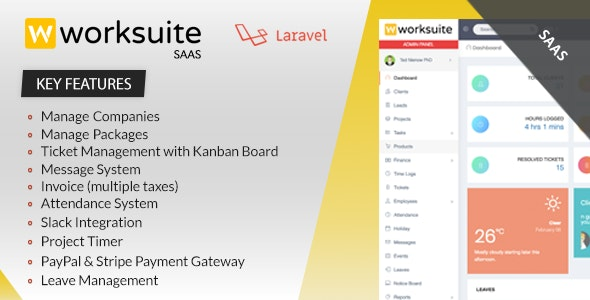 Download Worksuite Saas v3.4.6 - Project Management System - nulled Free / Nulled