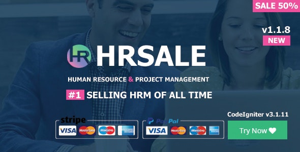 Download HRSALE v1.1.8 - The Ultimate HRM Free / Nulled