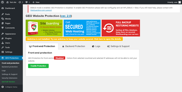 Download WP GEO Website Protection  v2.8.4 - PRO Free / Nulled
