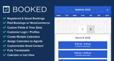 Download Booked v2.2.6 - Appointment Booking for WordPress Free / Nulled