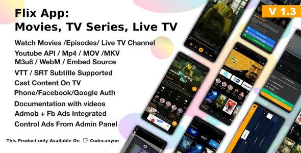 Download Flix App v1.3 - Movies - TV Series - Live TV Channels - TV Cast Free / Nulled