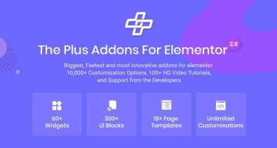 Download The Plus v3.2.0 - Addon for Elementor Page Builder WordPress Plugin Free / Nulled