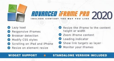 Download Advanced iFrame Pro v2020.1 - WP Plugin Free / Nulled