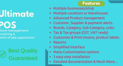 Download Ultimate POS v3.0 - + Addons - nulled Free / Nulled