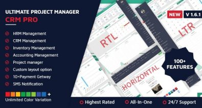 Download Ultimate Project Manager CRM PRO v1.6.1 - - nulled Free / Nulled