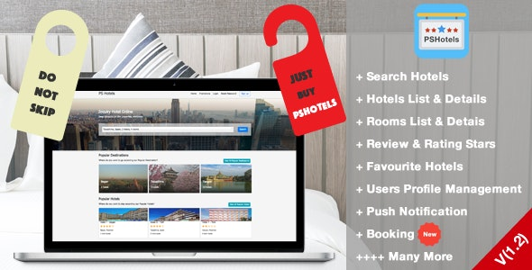 Download PSHotels Website v1.3 - (Ultimate Hotels Finder Website With Backend) Free / Nulled