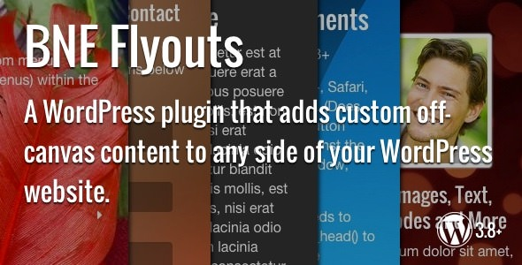 Download Flyouts  v1.4.2 - Off Canvas Custom Content for WordPress Free / Nulled