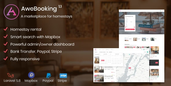 Download AweBooking v1.1 - A marketplace for homestays Free / Nulled