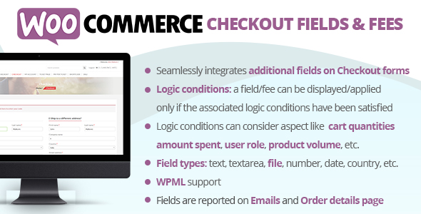 Download Checkout Fields & Fees v7.2 - WooCommerce Free / Nulled