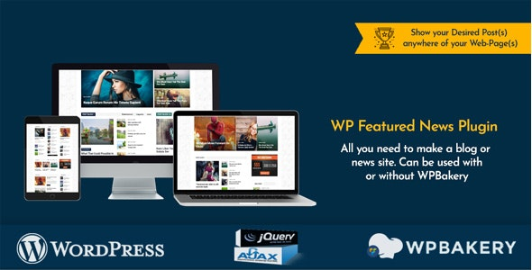 Download WP Featured News Pro v1.2 - Custom Posts Listing Plugin Free / Nulled