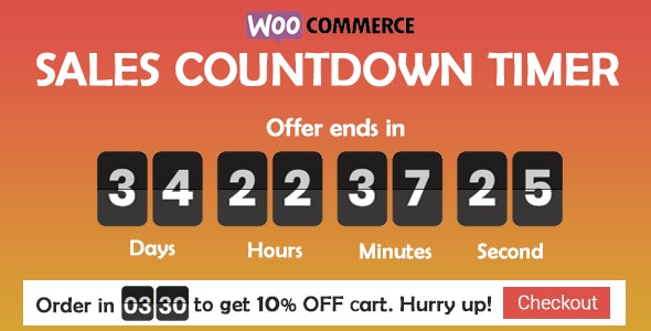 Download Checkout Countdown v1.0.1 - Sales Countdown Timer for WooCommerce and WordPress Free / Nulled
