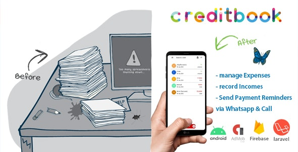 Download CreditBook v1.1 - Start Online Credit Android App - nulled Free / Nulled