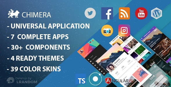 Download Chimera v10.2018 - Full Multi-Purpose Ionic 3 App, Theme, Component Free / Nulled
