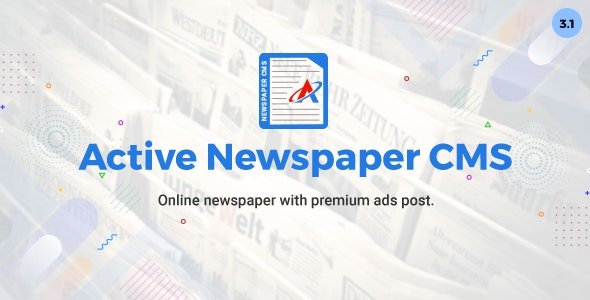 Download Active Newspaper CMS v3.1 - Nulled Free / Nulled