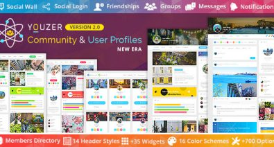 Download Youzer v2.4.1 - + Addons Pack Free / Nulled