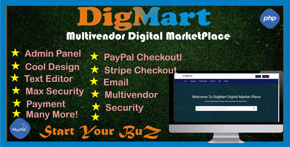 Download DigMart v03.2020 - Multivendor Digital MarketPlace PHP Free / Nulled
