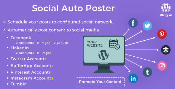 Download Social Auto Poster v3.3.1 - WordPress Plugin Free / Nulled
