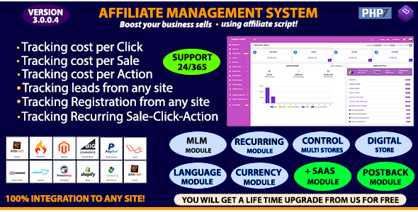 Download Affiliate Management System v3.0.0.4 - Nulled Free / Nulled