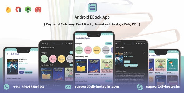 Download Android EBook App v1.8 - (Books App, PDF, ePub, Download Books, Paid book, payment gateway) + admin panel Free / Nulled