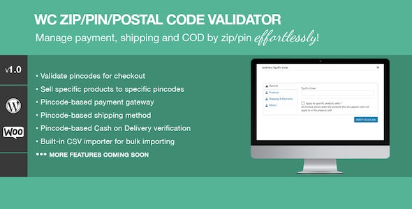 Download Zip/Pin/Postal Code Validator v1.2 - For WooCommerce Free / Nulled