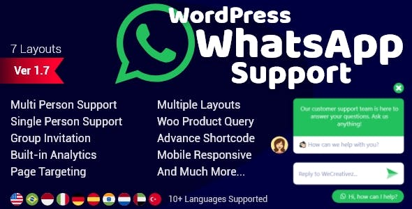 Download WordPress WhatsApp Support v1.9.1 - WP Plugin Free / Nulled