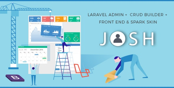 Download Josh v6.2 - Laravel Admin Template + Front End + CRUD Free / Nulled