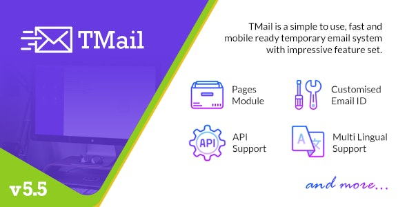 Download TMail  v5.5 - Multi Domain Temporary Email System - nulled Free / Nulled