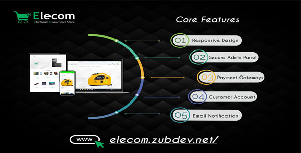 Download Elecom v1.0 - Electronic E-commerce Store PHP Script Free / Nulled
