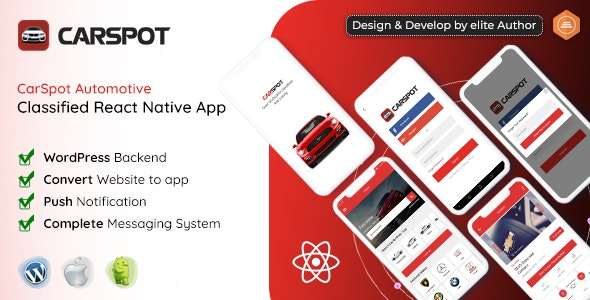 Download CarSpot v1.5 - Dealership Classified React Native Android App + IOS Free / Nulled