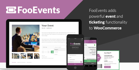 Download FooEvents v1.11.26 - for WooCommerce Free / Nulled