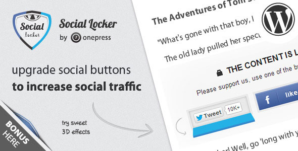 Download Social Locker v5.5.0 - for Wordpress Free / Nulled