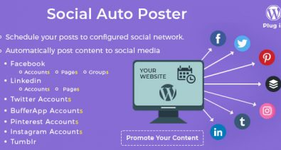 Download Social Auto Poster v3.3.2 - WordPress Plugin Free / Nulled