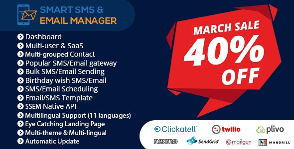 Download Smart SMS & Email Manager v4.1 - nulled Free / Nulled
