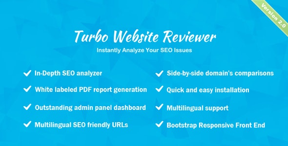 Download Turbo Website Reviewer v2.1 - In-depth SEO Analysis Tool - nulled Free / Nulled