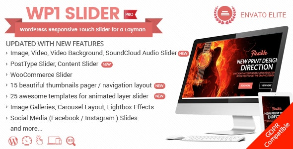 Download WP1 Slider Pro v1.2.3 - WordPress Responsive Touch Slider for a Layman Free / Nulled