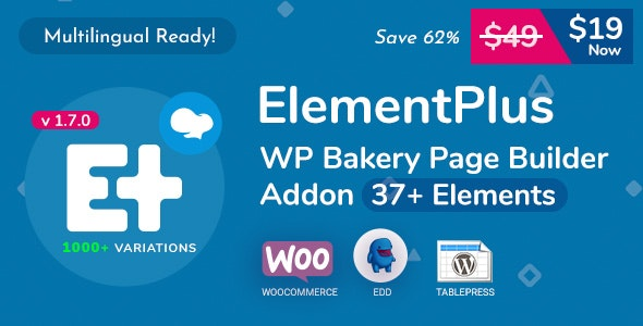 Download Element Plus v1.8.0 - WPBakery Page Builder Addon Free / Nulled