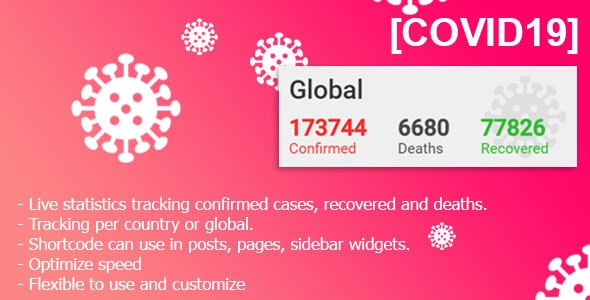 Download COVID-19 Live Statistics  v2.0.1 - for WordPress Free / Nulled