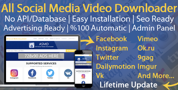 Download All Social Media Video Downloader v6.0 - Nulled Free / Nulled