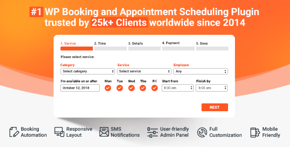 Download Bookly Booking Plugin v17.9 - + Addons Free / Nulled
