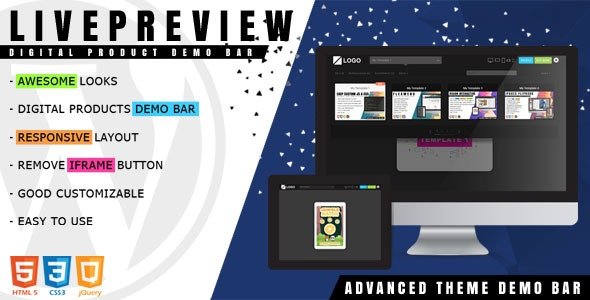Download LivePreview v1.2.1 - Theme Demo Bar for WordPress Free / Nulled