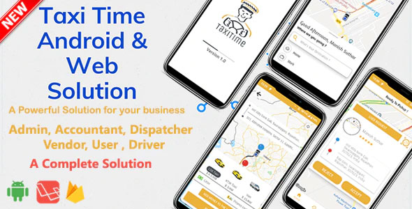 Download Taxi Time  v1.0 - Android Taxi Application Complete Solution Free / Nulled