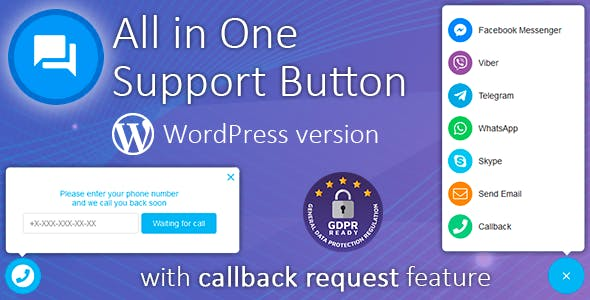 Download Contact us v1.7.9 - All-in-one button with callback Free / Nulled