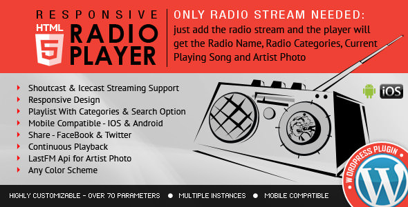 Download Radio Player v3.3.2 - Shoutcast & Icecast Free / Nulled